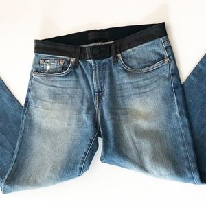 J. Brand Jeans and Black Leather W Jeans • 33